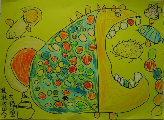幼儿美术作品大海