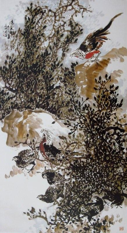老鹰手绘具象图片