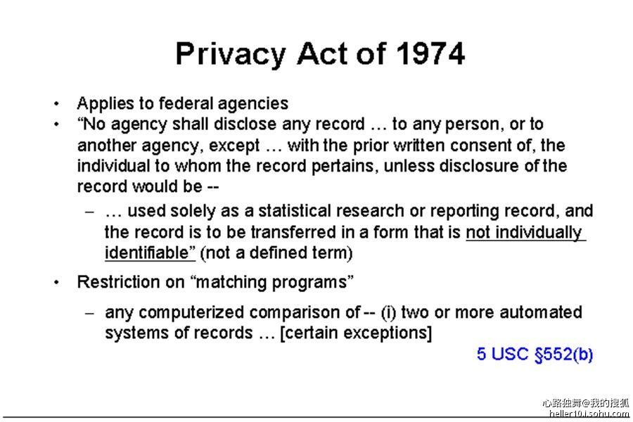 隐私在美国