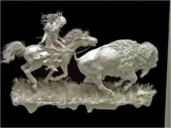 震撼的印第安风情 瑰丽的立体纸雕