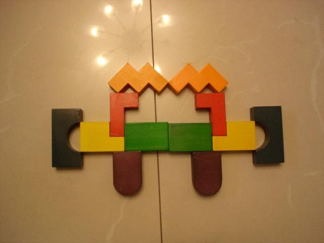 我创意,我做主——创意立体几何积木(照片)