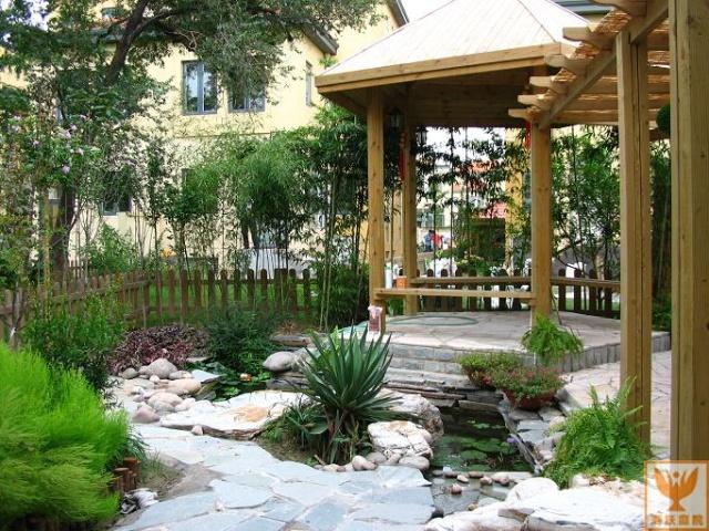庭院一角的小菜园里有老人的身影,传承着上一代人的朴实与善良;阳光