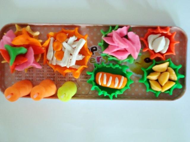 橡皮泥手工制作图片玫瑰花饺子