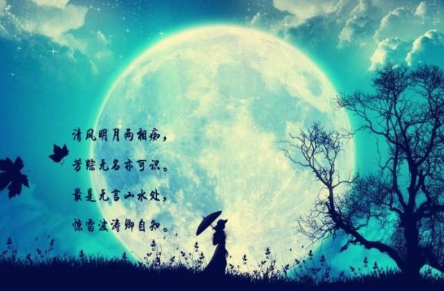 兼顾月色与树木的诗句