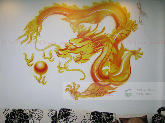 发背景墙装饰-苏州手绘墙