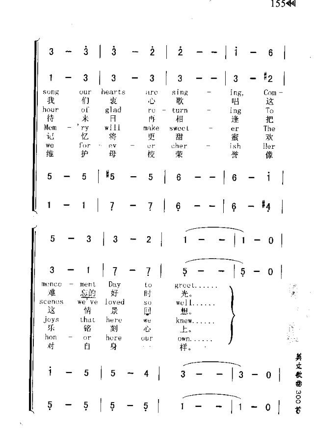 commencement song(毕业歌)-曲谱歌谱大全-搜狐博客