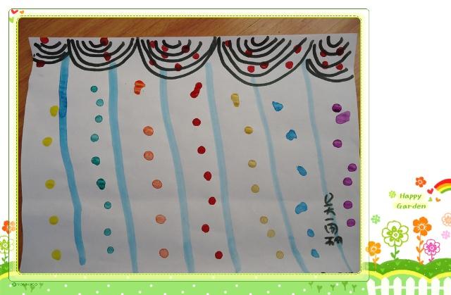 幼儿园手工卡纸窗帘