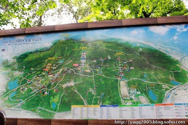 钟山风景区导览图