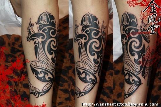半臂金蟾纹身图案分享展示