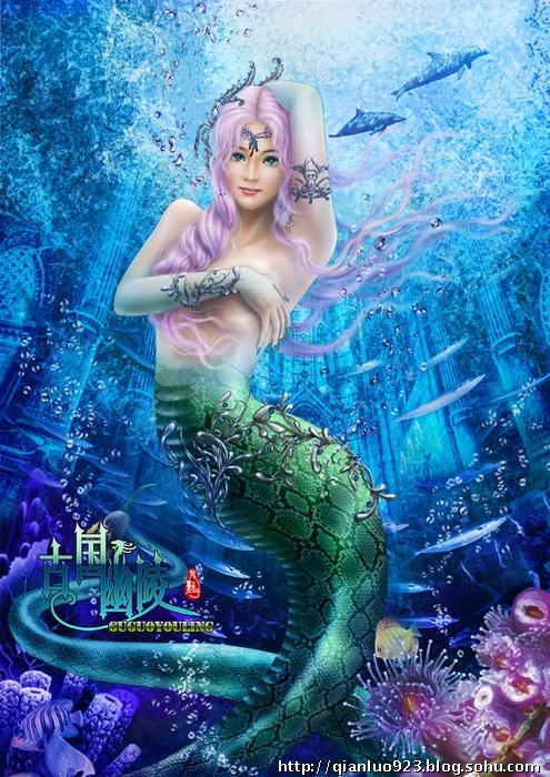 深海巫女 鬼点子唯美手绘