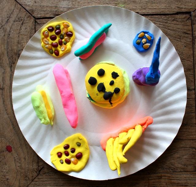 创意盘子画_8月14日橡皮泥纸盘子创意之一-李博画室创想园的空间-搜狐博客
