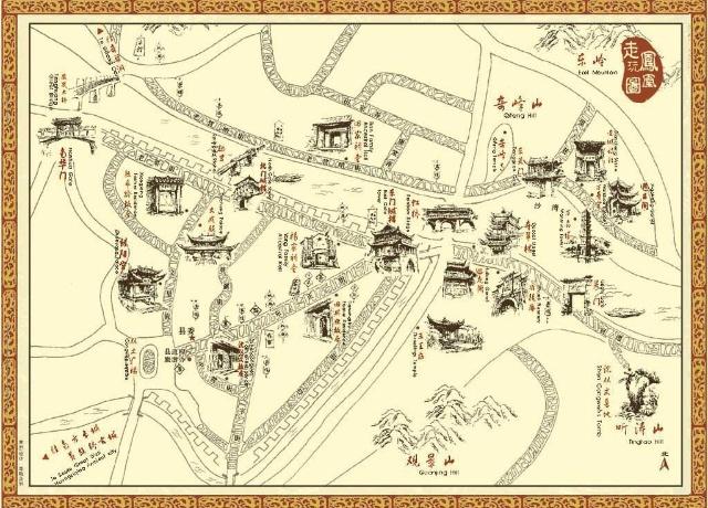 张家界天门山地图