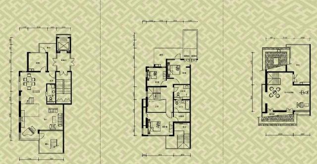 北京洋房现代风格别墅设计案例赏析 户型平面图