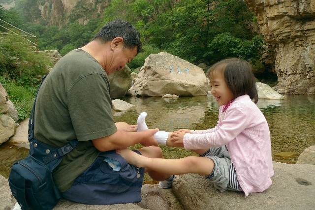 中秋节的水粉画-中秋节青岛之旅 崂山北九水
