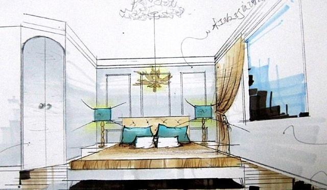 餐具展示设计手绘图