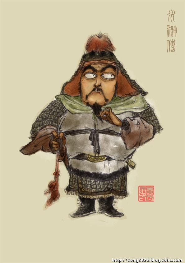 手绘原画设计--惟妙惟肖的水浒人物造型-央美宋扬