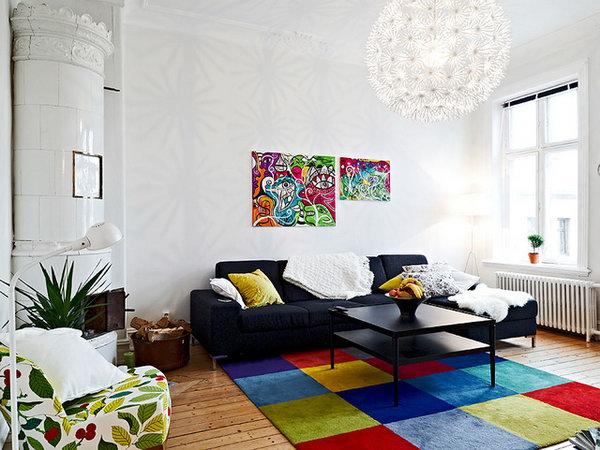 客厅地板简单造型图片