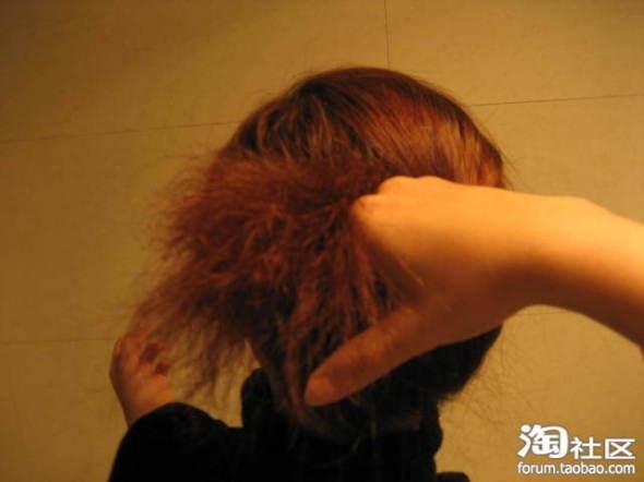 简单实用盘头发的方法图解
