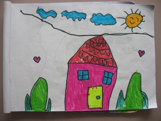 房子画什么颜色好看