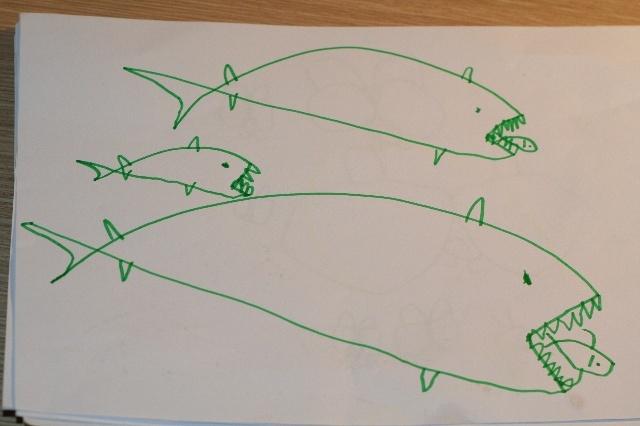折纸小鱼海底世界简笔画