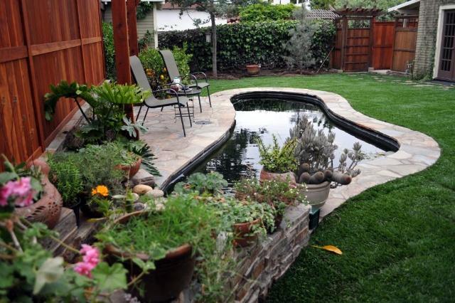 别墅花园锦鲤鱼池设计施工 专业锦鲤池设计施工锦鲤池过滤设计施工