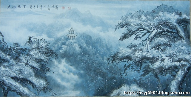 《庐山瑞雪》——庐山风景区收藏