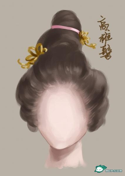 古代女子图片手绘图桃花仙女