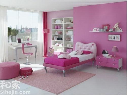 7个粉色芭比公主儿童房