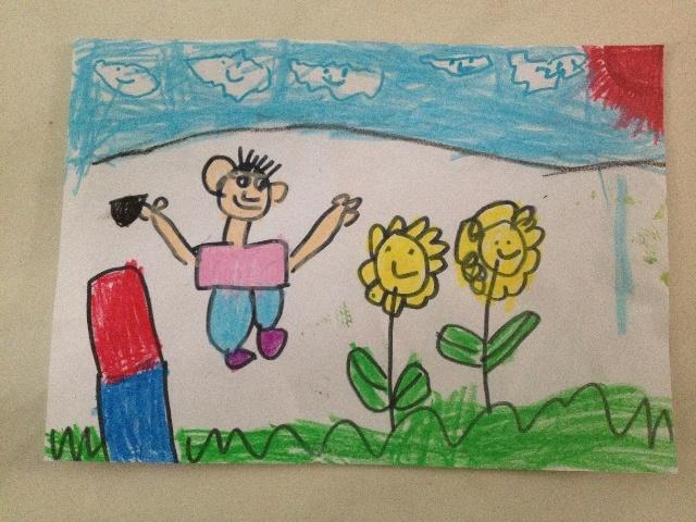 儿童画可爱垃圾桶图片