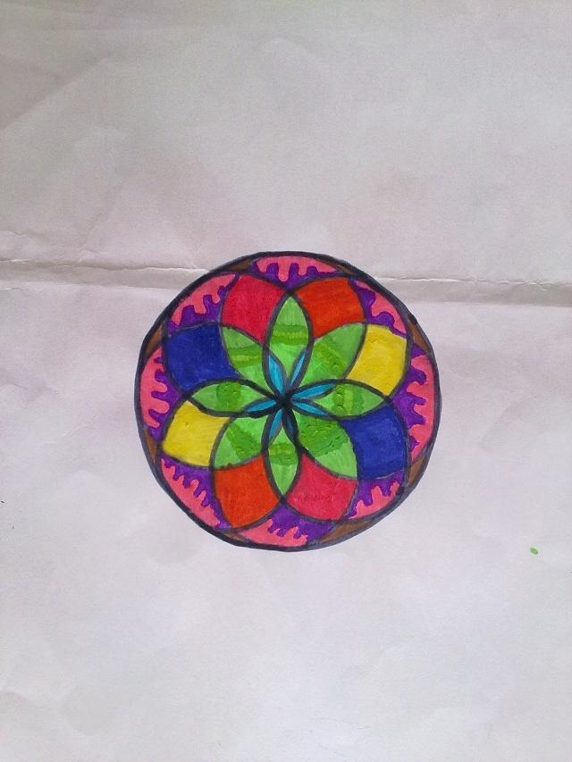 用圆规设计图案 用圆规设计圆的图案 用圆规画出美丽图案 用圆规画出