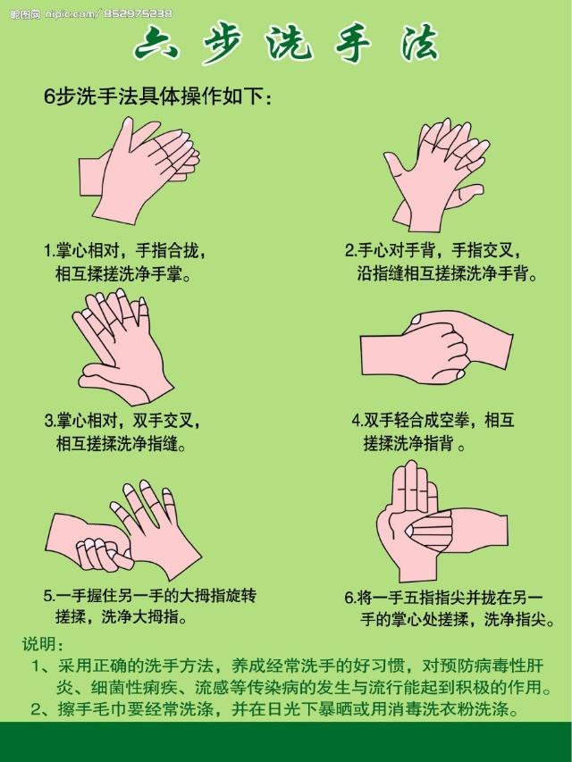 """家长在家帮孩子巩固使用""""六步洗手法""""."""